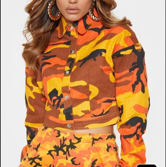 df190858d8cdb PrettyLittleThing Jackets & Coats | Plt Cropped Camo Jacket | Poshmark
